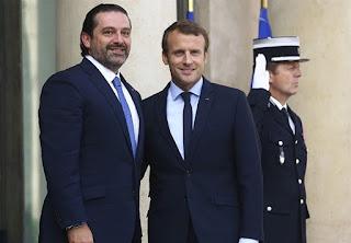 Lebanese Prime Minister Hariri Arrives in Paris