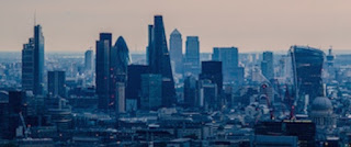 London City Skyline at Dusk