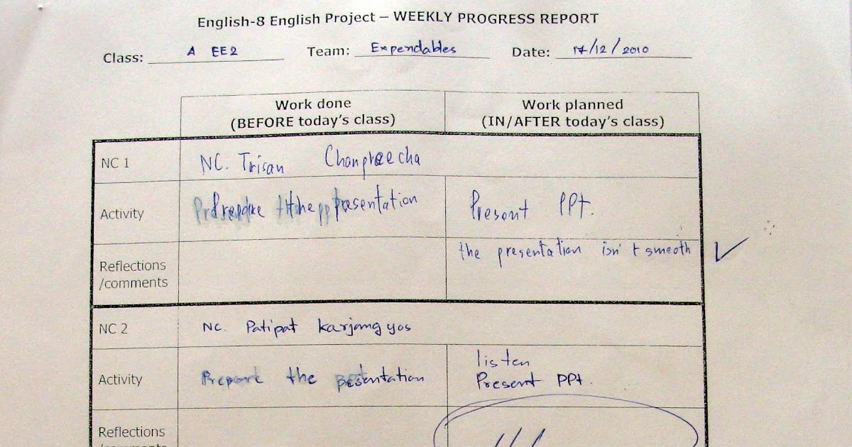Project Work In English Language Teaching Progress Report Pr