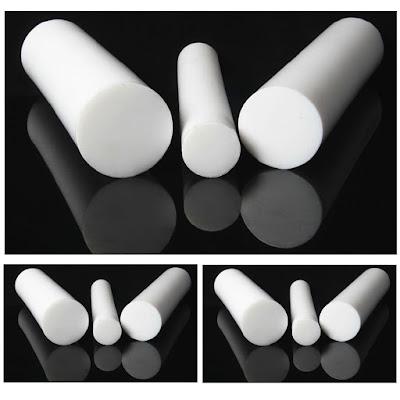 PTFE Teflon Round Rod Bar White