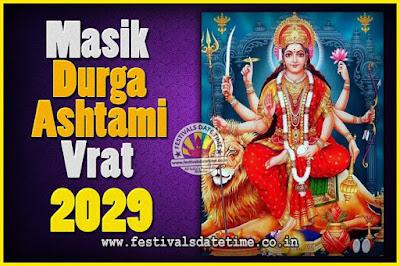 2029 Masik Durgashtami Vrat Date & Time, 2029 Masik Durgashtami Vrat Calendar