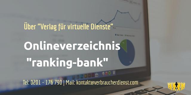 Onlineverzeichnis ranking-bank  Verlag für virtuelle Dienste