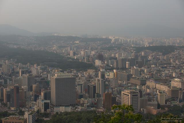 Сеул. Национальный парк Намсан. Вид на Сеул.