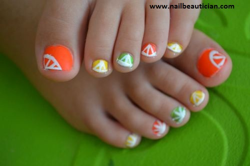 hot toe nail design