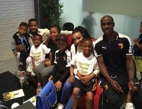 index Watford player, Odion Ighalo shares photo of his family