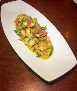 Crispy Shrimp Napoli appetizer at bravo mercato in Naples