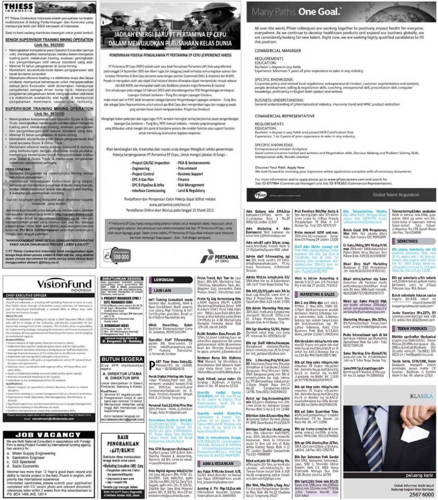 Lowongan Bank Mandiri Surabaya 2013 Lowongan Kerja Bi Bank Indonesia Terbaru Oktober 2016 Lowongan Kerja Koran Kompas Minggu 3 Maret 2013 Diantaranya Lowongan