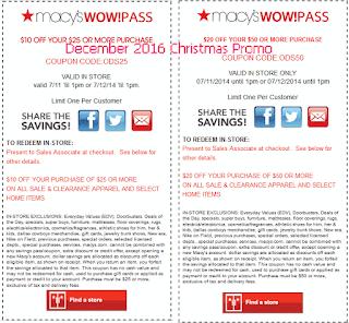 Macy's coupons december