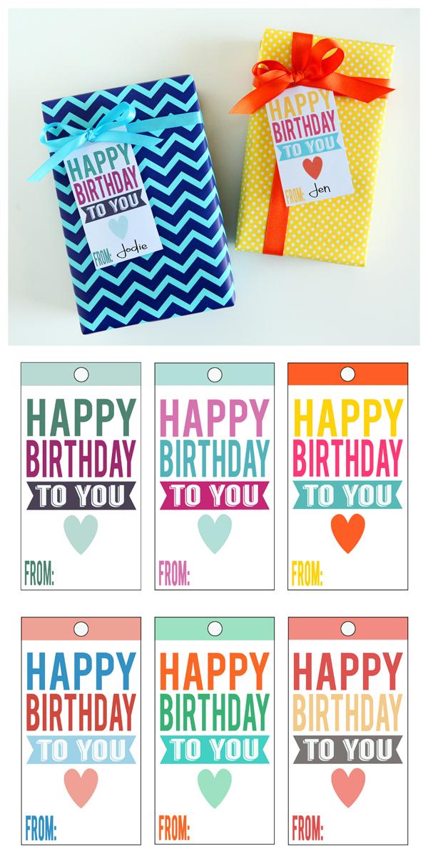printable happy birthday tags eighteen25 bloglovin. Black Bedroom Furniture Sets. Home Design Ideas