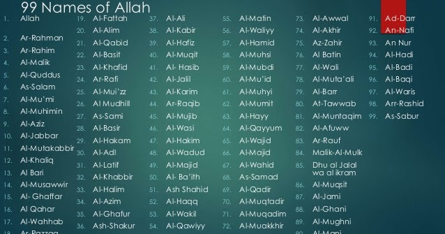 99 Names Of Allah in English Meaning ~ Hajj and Umrah News, Hajj