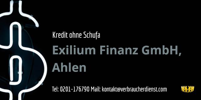 Titelbild: Exilium Finanz GmbH, Ahlen – Kredit ohne Schufa