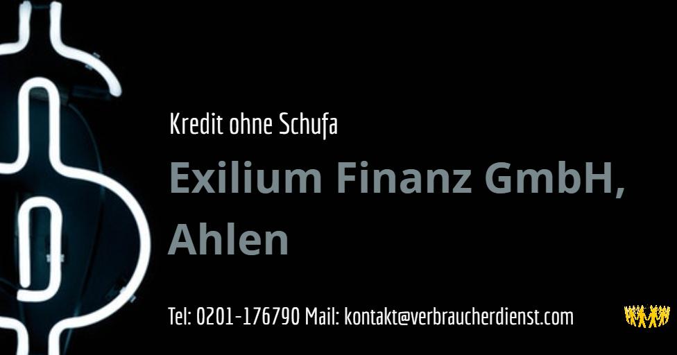 Exilium Finanz GmbH, Ahlen – Kredit ohne Schufa  Verbraucherdienst e.V.