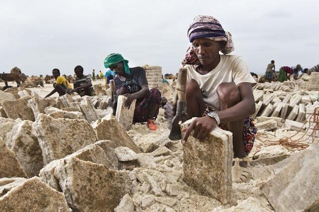 Penambangan garam, Ethiopia
