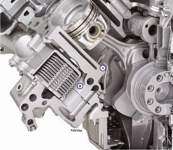 engine oil cooler diagram
