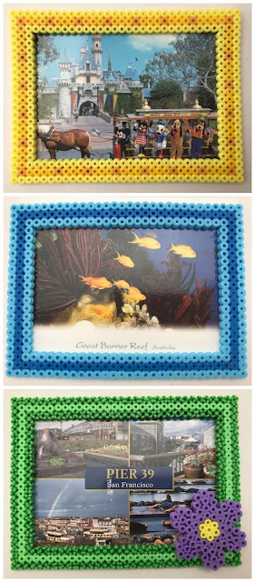 Hama bead photo frame collection