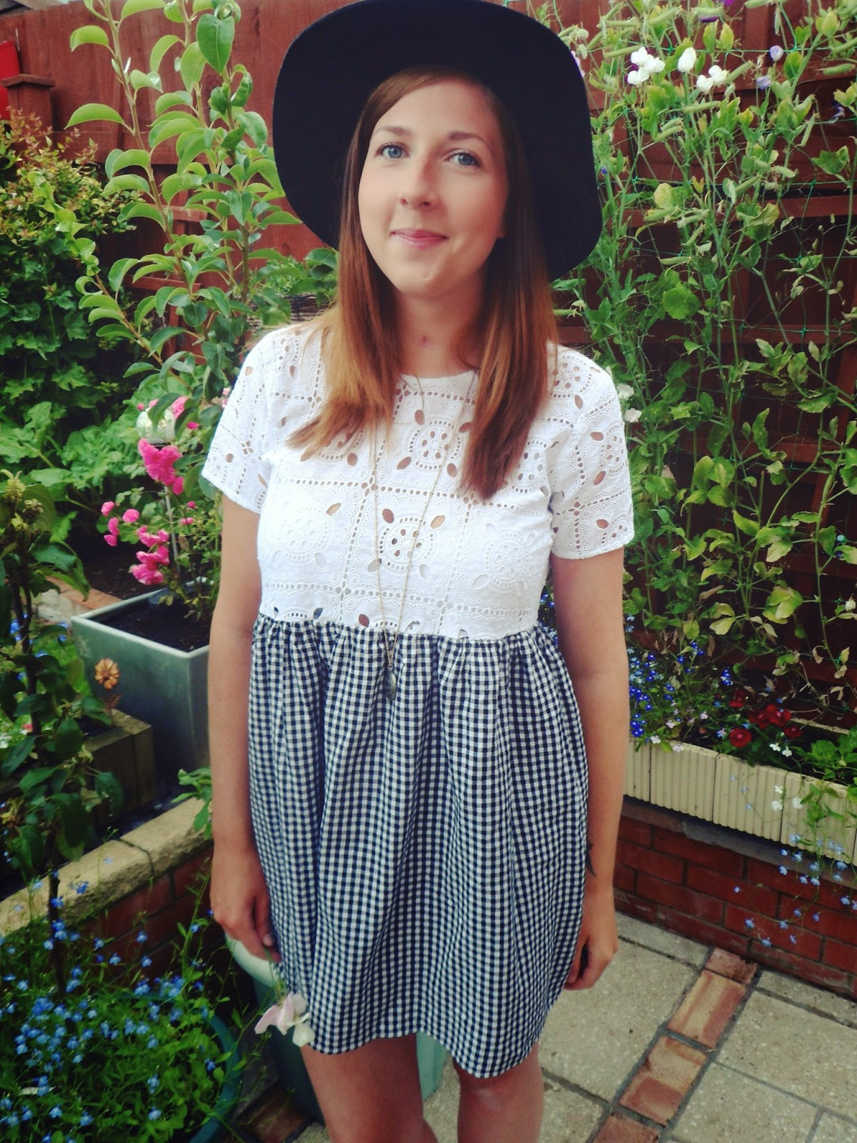 asos, smock dress, fedora hat, jelly shoes, fashion, fbloggers, ootd, wiw