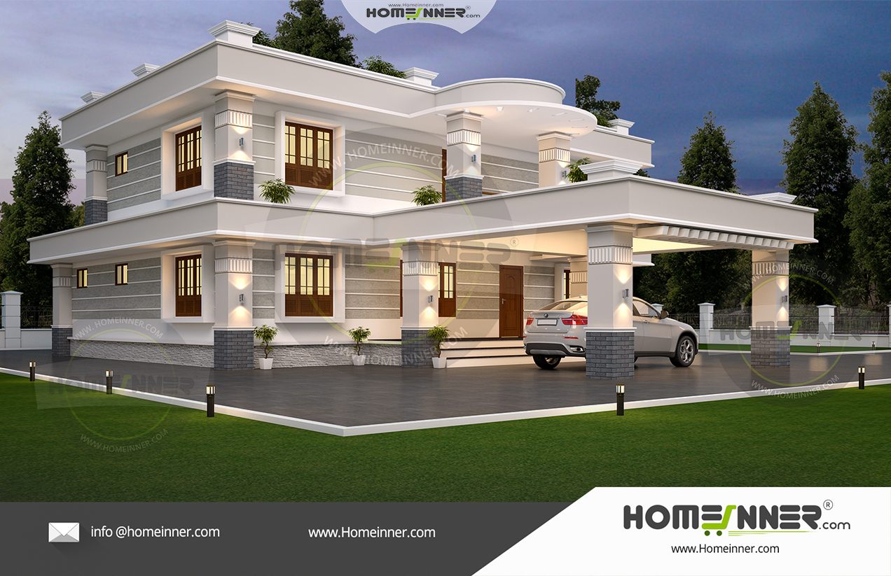48 Lakh 4 Bedroom 4 Bath contemporary Trivandrum villa