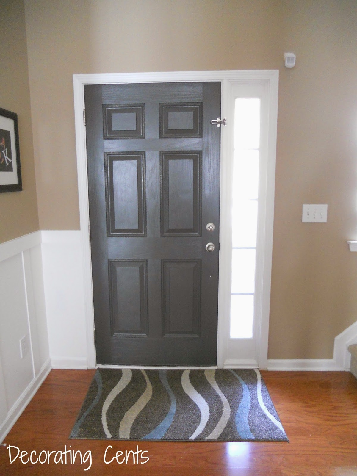 Decorating Cents: Gray Front Door