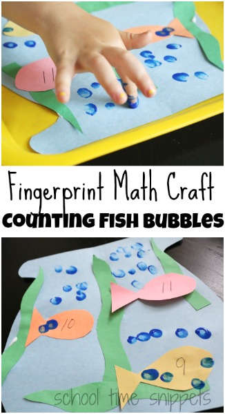preschool fish theme fingerprint activity