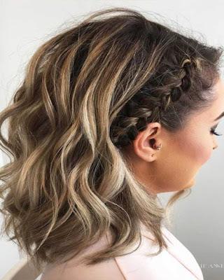 peinado con cabello corto con trenza