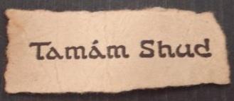 Taman Shud, misterioso mensaje