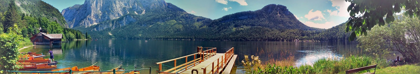 The view at lake Altaussee is particularly stunning and very peaceful.