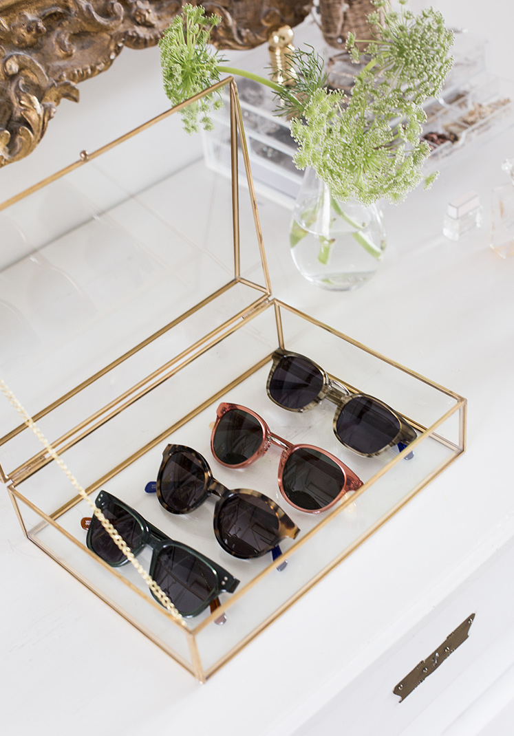 A Pretty Way to Store Sunglasses