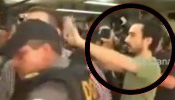 Javier Duarte recibe su merecido: un zape en la cabeza.