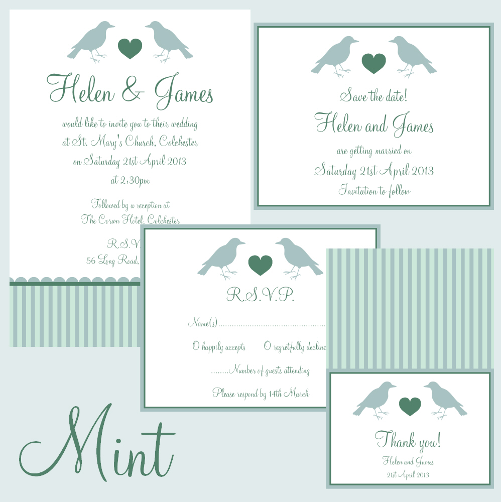 Hazel Fisher Creations: Love Birds printable wedding stationery