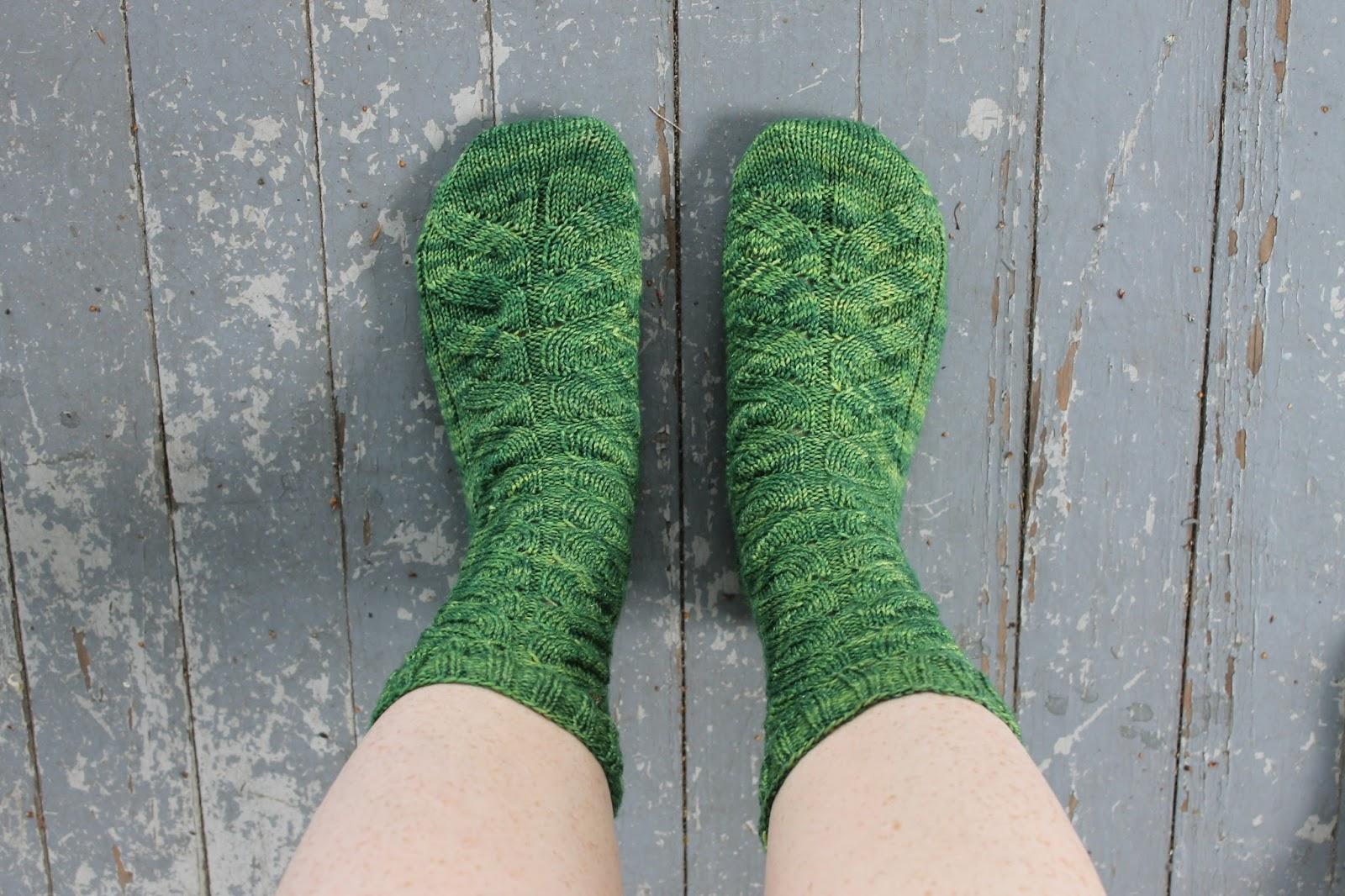 The Feisty Redhead: Tadpole Knit Socks for Mom