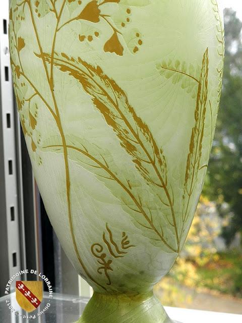 NANCY (54) - Musée de l'Ecole de Nancy : Vase Adiante (1900)