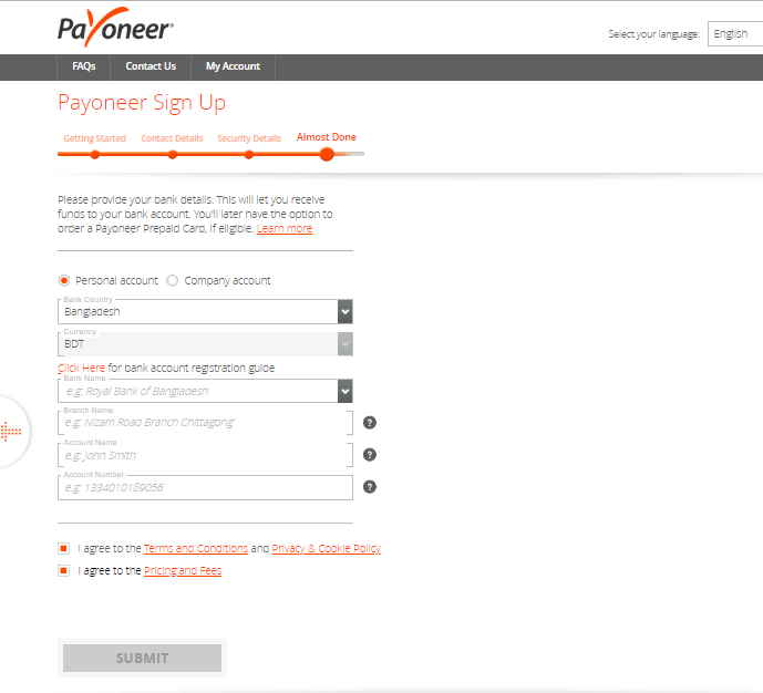 How To Create Full Approved Payoneer Account,trickdunia.com