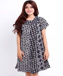 dress batik pendek modern