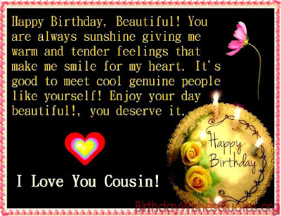 Happy Birthday Cousin Message