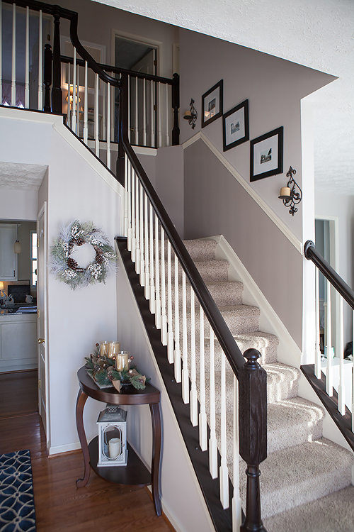 Timeless And Treasured My Three Girls Diy How To Stain And | Cost Of Staining Stairs | Stair Railings | Hardwood | Stair Tread | Handrail | Basement Stairs