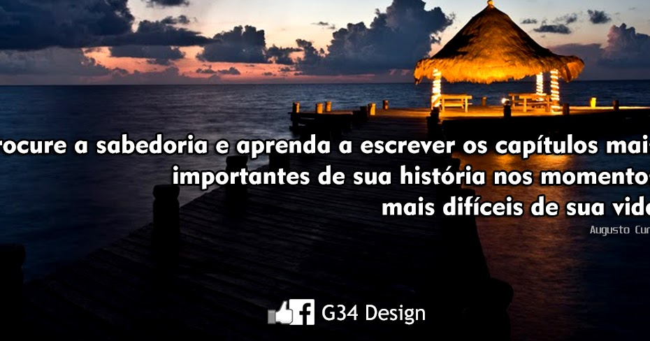 G34 design capa para facebook pensamento augusto cury for O architecture facebook