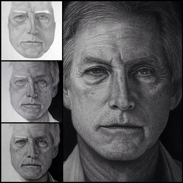 11-Portraits-Justin-Cohen-Realistic-Portrait-Drawings-WIP-www-designstack-co