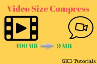 HD Video Size Compress Video guide