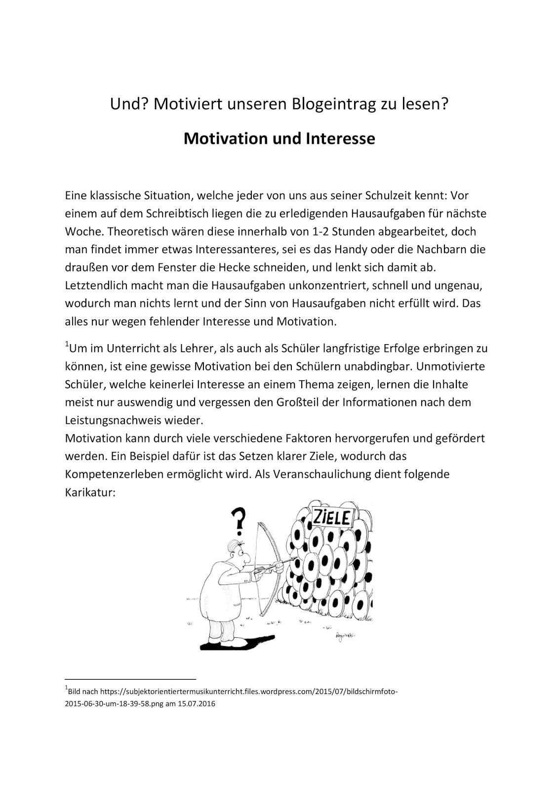 Einführung in die Fachdidaktik: Motivation und Interesse im Unterricht