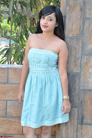 Sahana New cute Telugu Actress in Sky Blue Small Sleeveless Dress ~  Exclusive Galleries 039.jpg