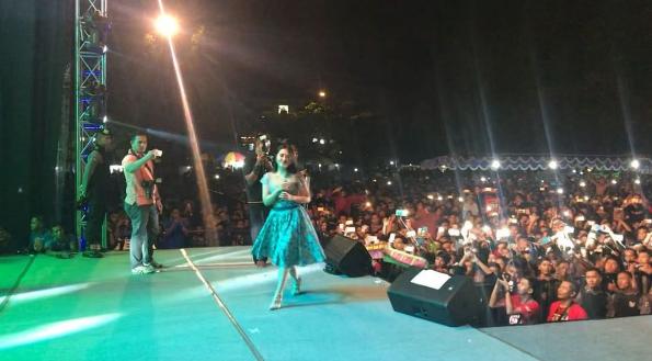 Konser Via Vallen Di Alun Alun Wonosari Gunungkidul Yogyakarta