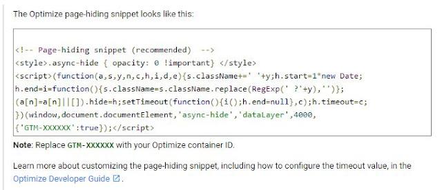 使用GTM安裝Optimize, 官方建議安裝追蹤碼