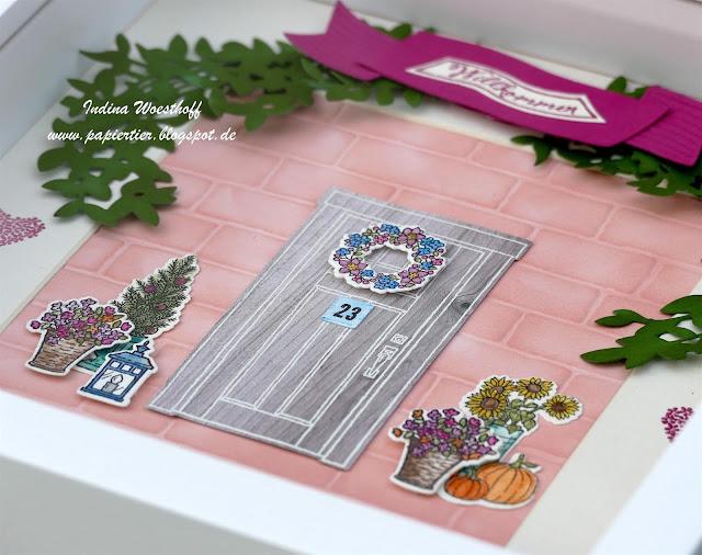 Wie zu Hause | Lorbeerkranz | DIY Homedeko | Stampin' Up! 2017/18 | papiertier Indina