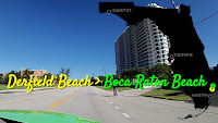Deerfield Beach nach Boca Raton Beach, Florida USA