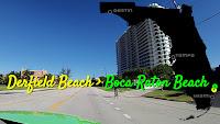 Deerfield Beach nach Boca Raton Beach, Florida USA
