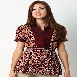 foto desain baju batik modern