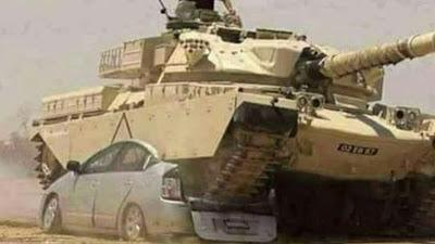 رعب إسرائيلي بعد دهس مجند مصري بدبابته سيارة مفخخة و شاهد تعليقهم