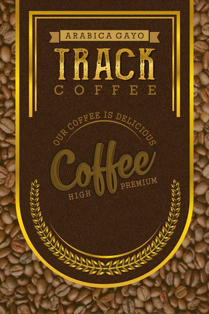 """3 Desain Lebel Coffee Brand """"TRACK"""" sebagai Inspirasi Anda  - Ala Wandani"""