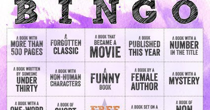 2016 Reading Bingo, or just something for the fun of it