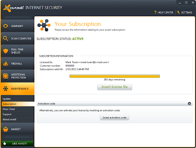 License Key Avast! Internet Security 7.0.1474 Full
